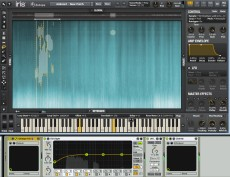 Used during underwater scene to play tonal elements from original source field recording.