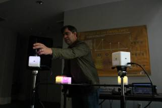 Talk on the 9 Box Instrument at Dr. Bob's Interactive Sonic Experience at Mountain Oasis Festival, Asheville, NC