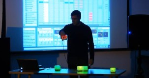 Talk and presentation on AudioCubes at the Guthman Musical Instrument Competition at Georgia Tech