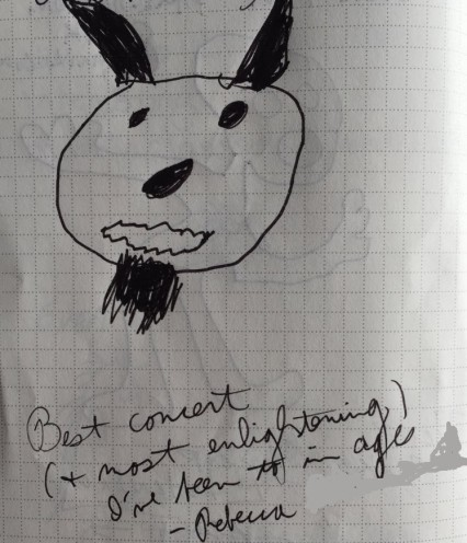 Picture and a note from our guest book