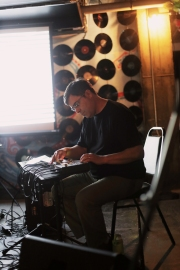 Mark Mosher performing with (no)poem in Des Moines - Photo by Eva Lewin