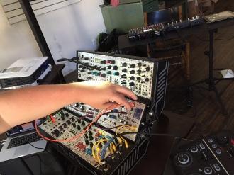 Setup and sound check in Lincoln, NE
