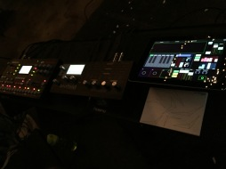 My rig in Des Moines. You can see the graphical score card teed up.