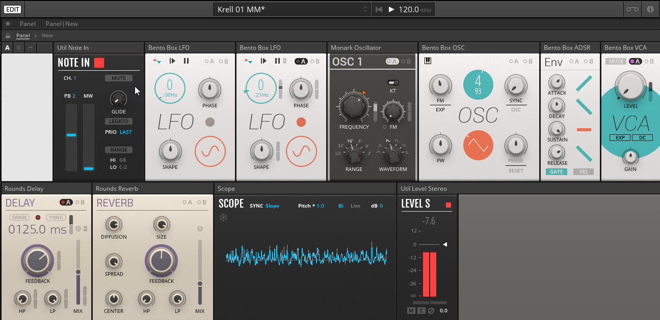 Video of First Patch with Reaktor 6 Modular Blocks … And