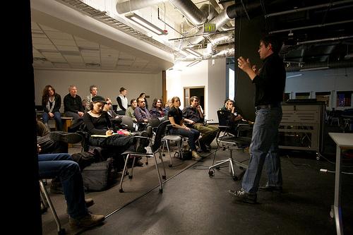 Giving a talk at University of Denver