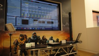 Photo from my performance and presentation at the Microsoft Store in Denver