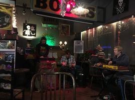 Biostatic, Mark Mosher, Wes Milholen, Sean Patrick Falin - Photo by Dani Temeyosa