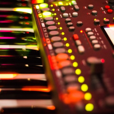 Nord Lead 4 with Octatrack on top. Photo by Jeff Navarro.