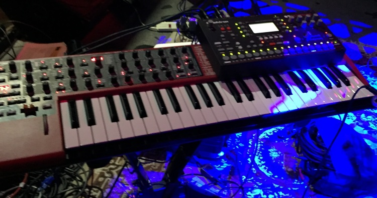 Photo of Nord Lead 4 and Octatrack taken at a recent concert performance