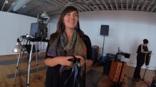 Taylor Dunne with 16mm film loops as improv sources
