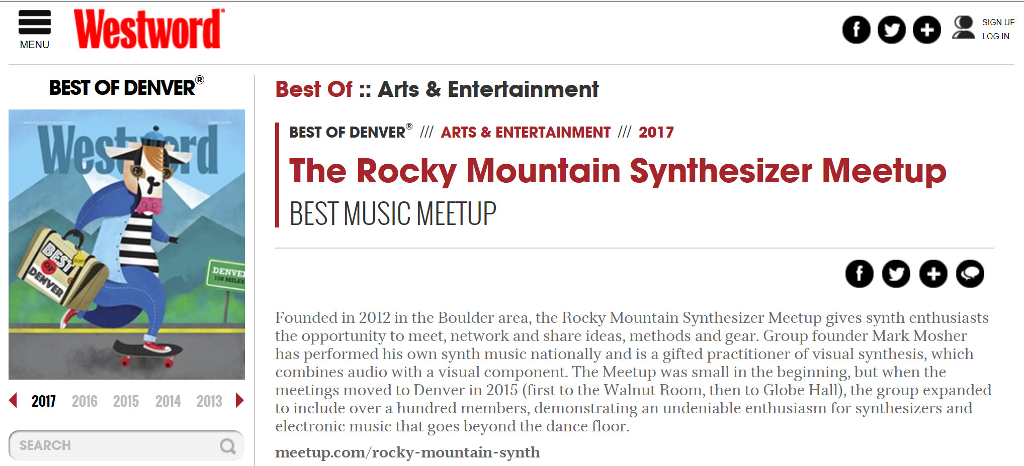 westword-best-of-2017-Rocky-Mountain-Synthesizer-Meetup