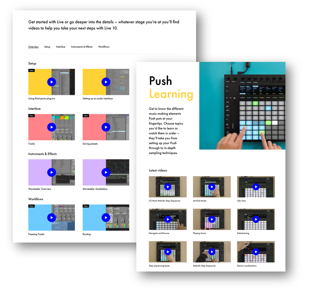 New Videos from Ableton to Help You Learn Live 10 and Push 2